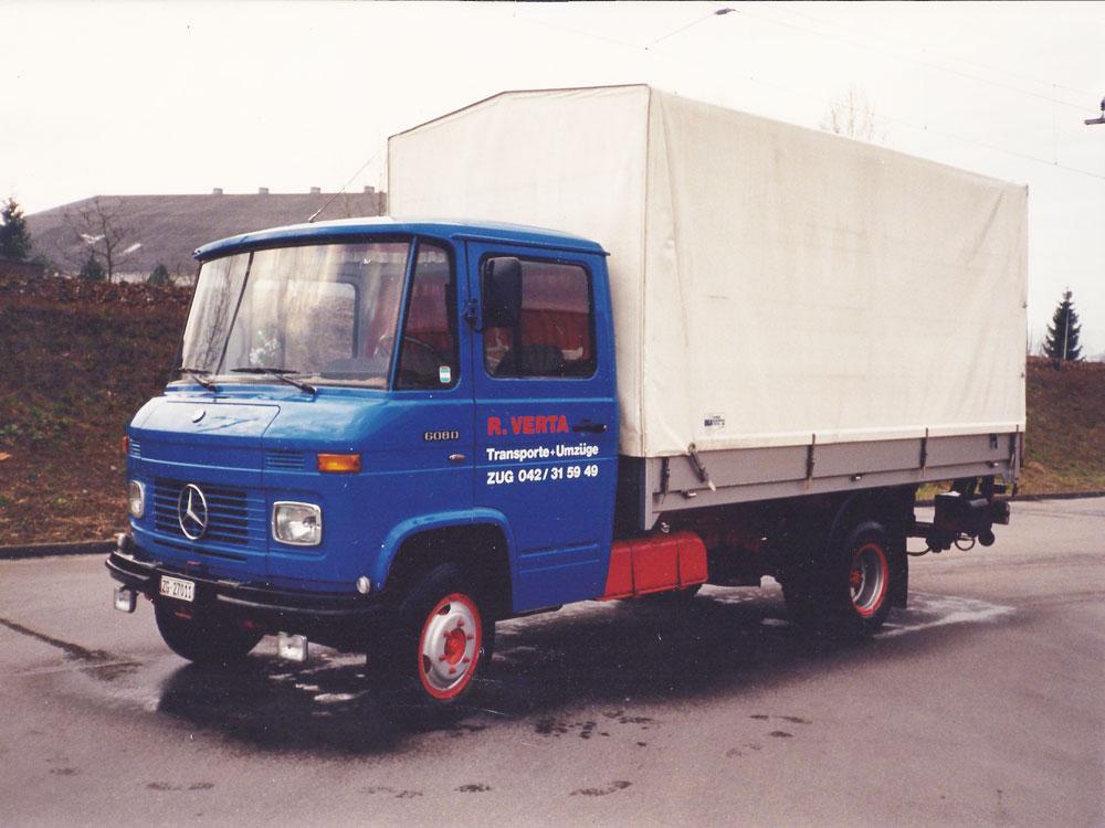 Unser erstes Fahrzeug bei der Gründung im Jahr 1987